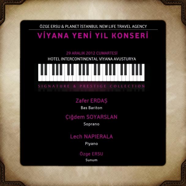 Özge Ersu Gezileri - Planet İstanbul Viyana Gezisi Yılbaşı Konser Programı